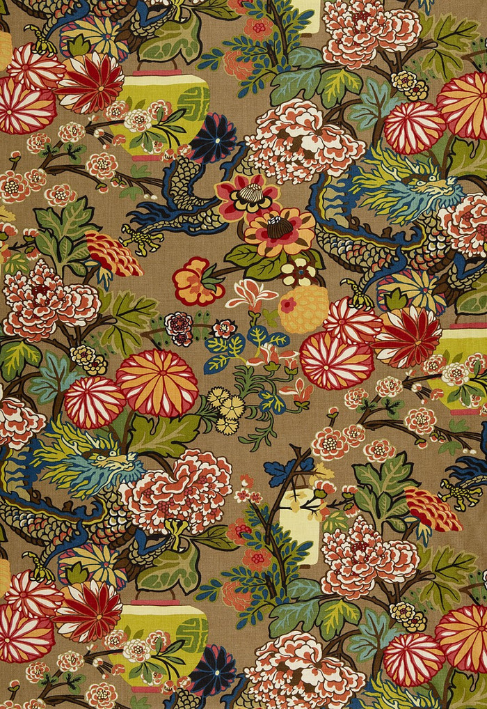 Schumacher Chiang Mai Dragon Mocha Wallpaper 5001064