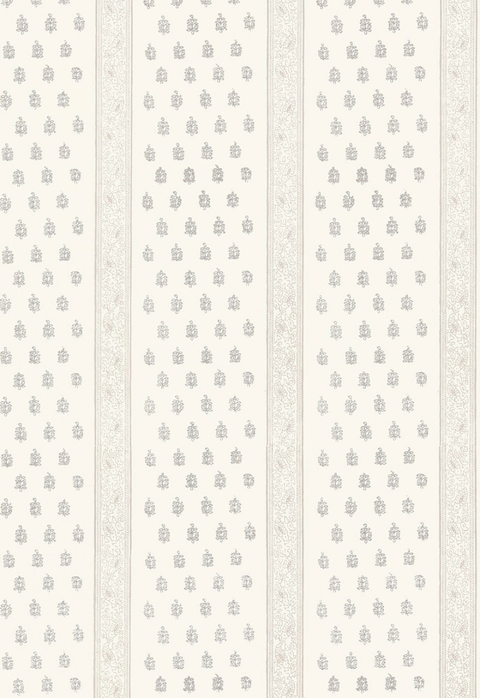 Schumacher Katsura Stripe Wallpaper Oyster