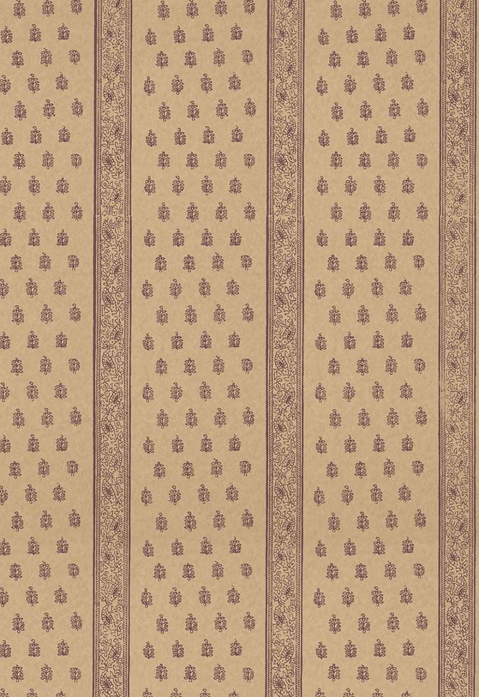 Schumacher Katsura Stripe Wallpaper Aubergine