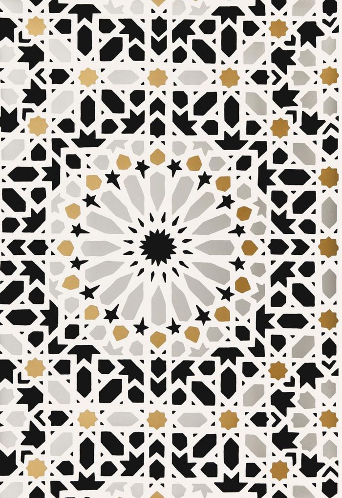 Schumacher Nasrid Palace Mosaic Wallpaper Mica