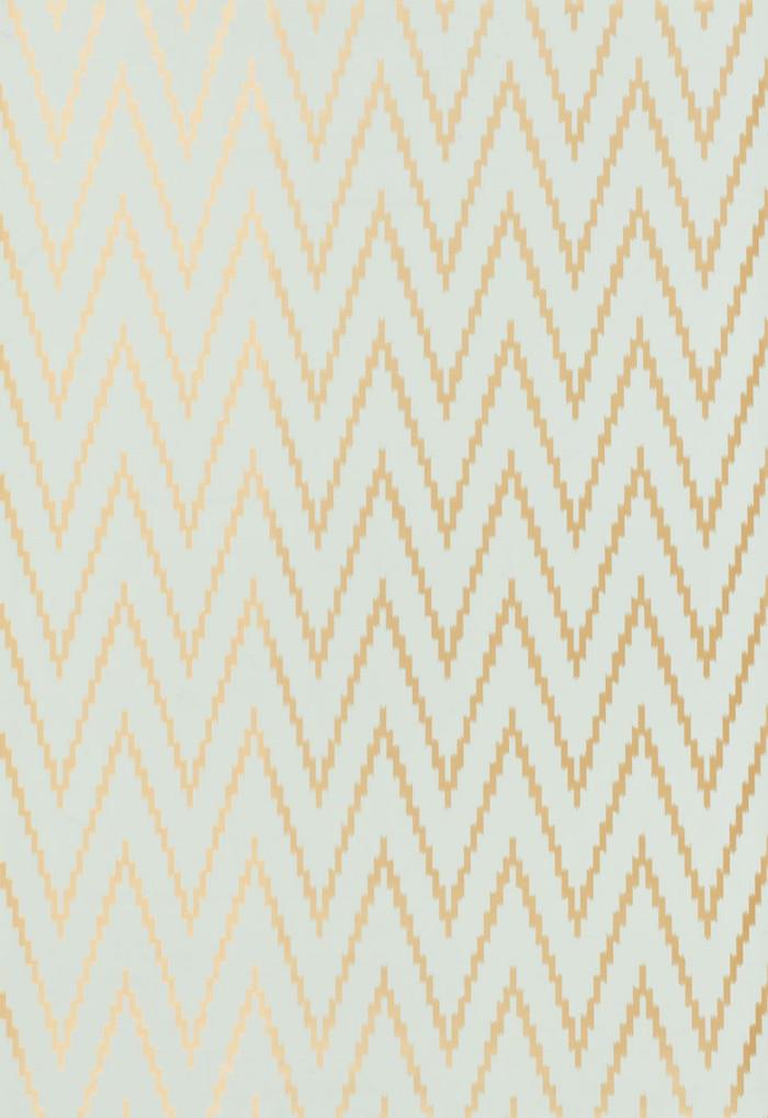 Schumacher Kasari Ikat Wallpaper Aquamarine