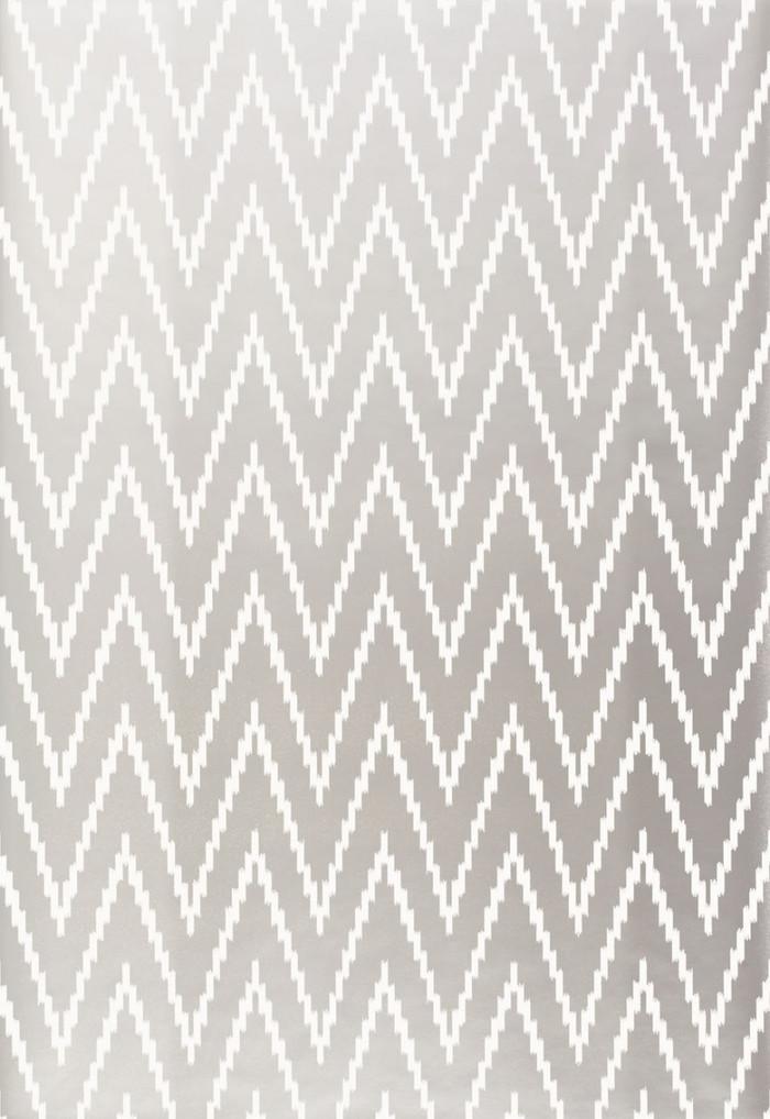 Schumacher Kasari Ikat Wallpaper Silver