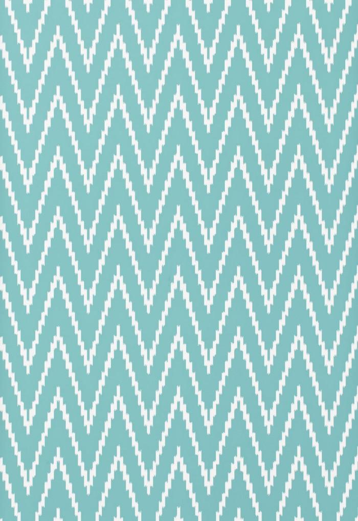 Schumacher Kasari Ikat Wallpaper Azure