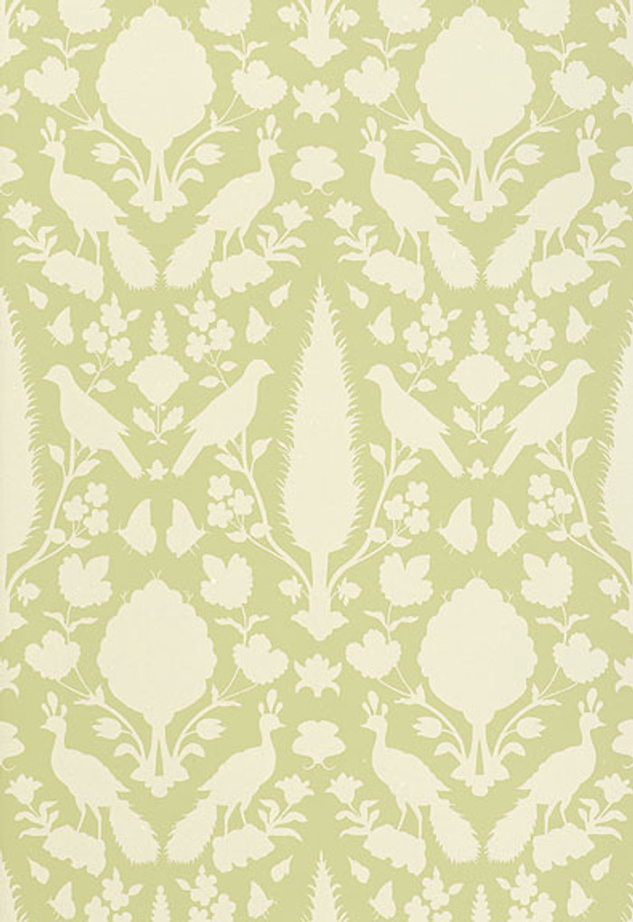 Schumacher Chenonceau Wallpaper Sage