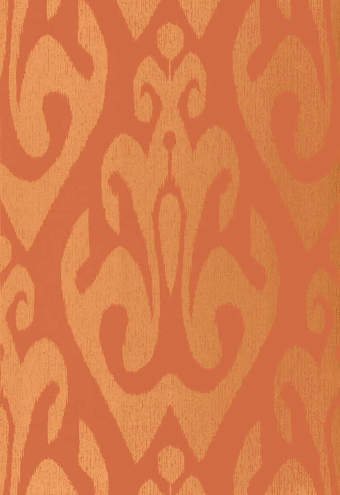 Schumacher Tokat Wallpaper Cinnabar