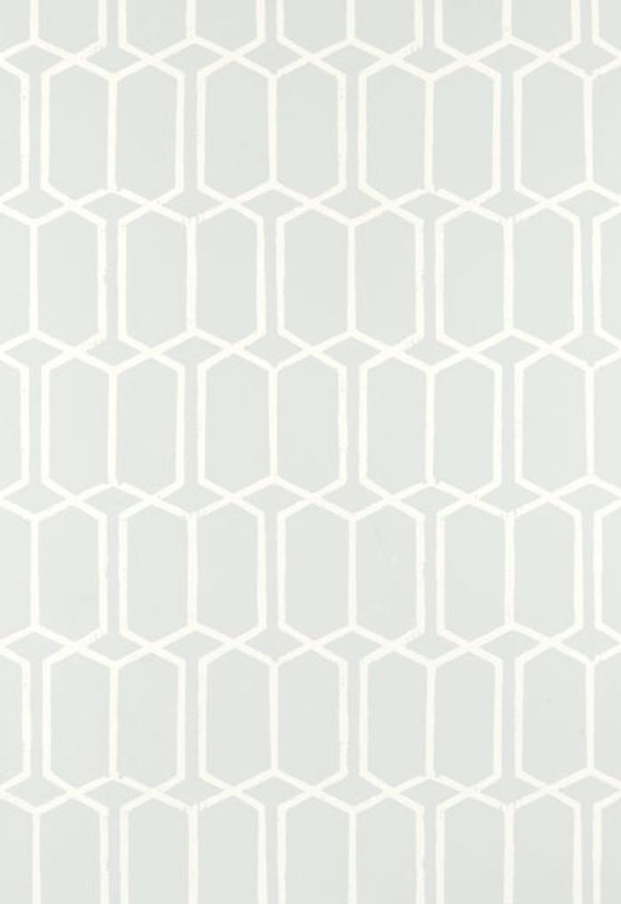 Schumacher Modern Trellis Wallpaper Cirrus