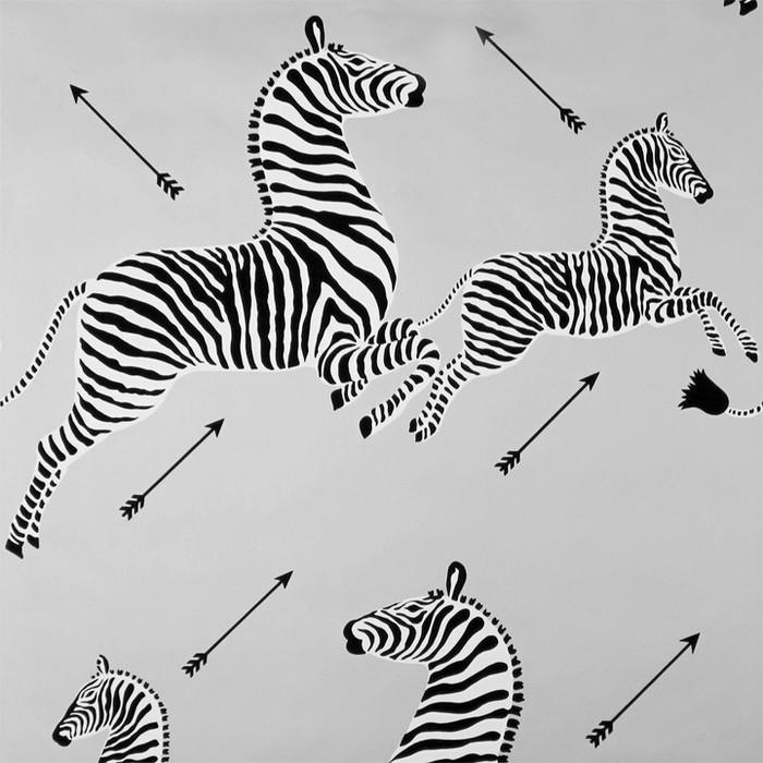 Scalamandre Zebras Wallpaper Silver