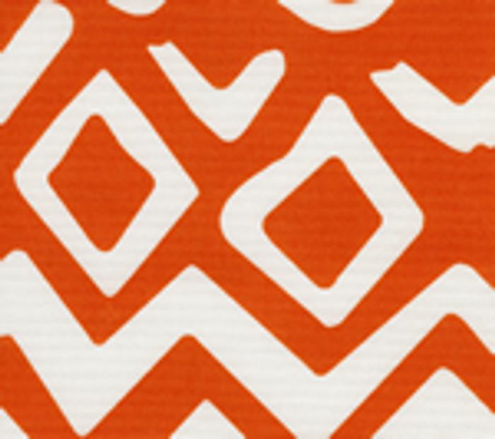 Quadrille Alan Campbell Deauville Indoor/Outdoor Suncloth Orange