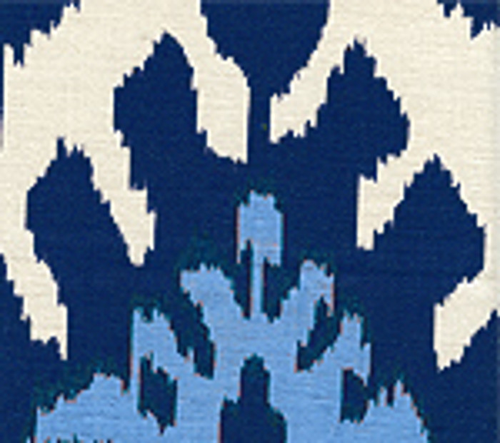 Quadrille Kazak Blue on Silk