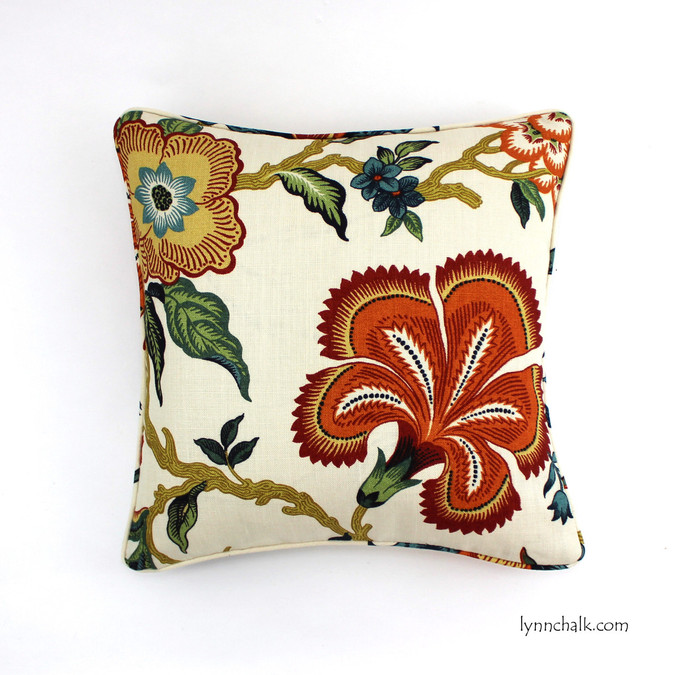 Celerie Kemble Hot House Flowers Spark (20 X 20) with self welting