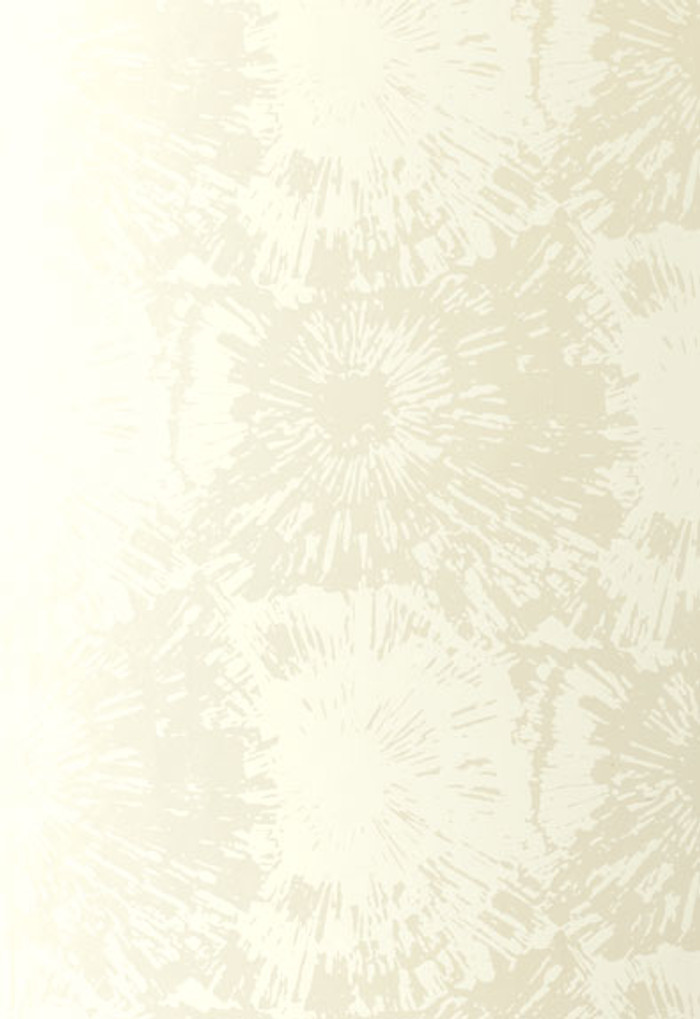 Schumacher Fireworks Wallpaper in White Opal