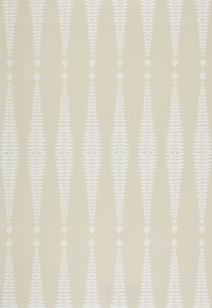 Schumacher Fern Tree Wallpaper in Bone