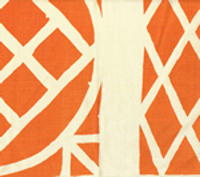 Quadrille China Seas Trellis Background Fabric Orange on Tint