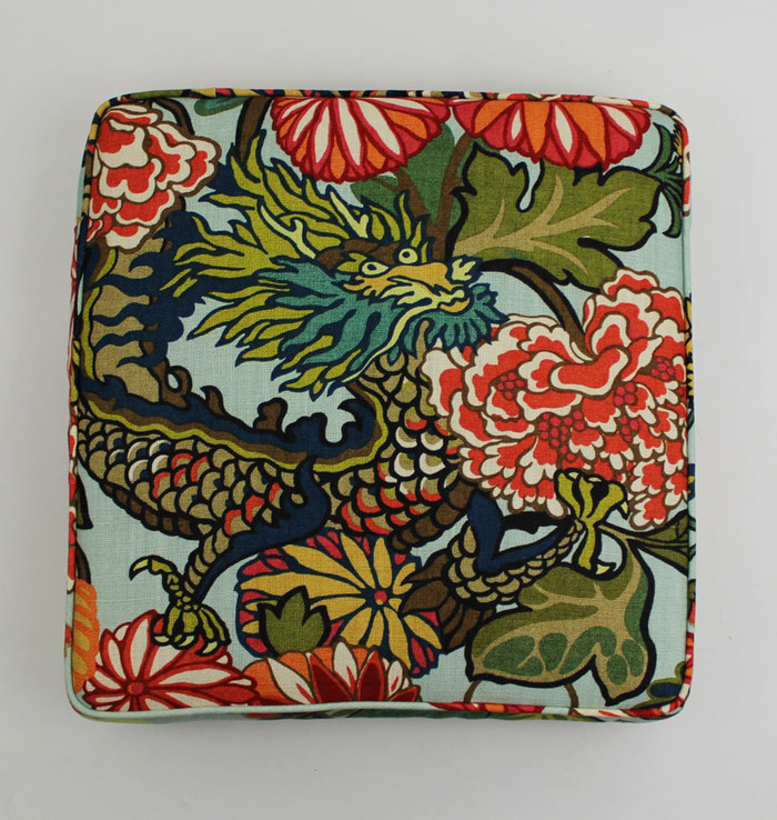 Custom Seat Cushions in Chiang Mai Dragon Aquamarine