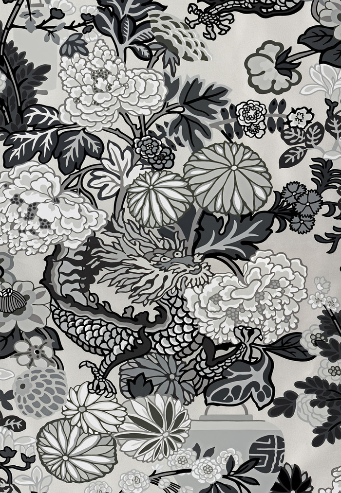 Schumacher Chiang Mai Dragon Smoke Wallpaper 5001066