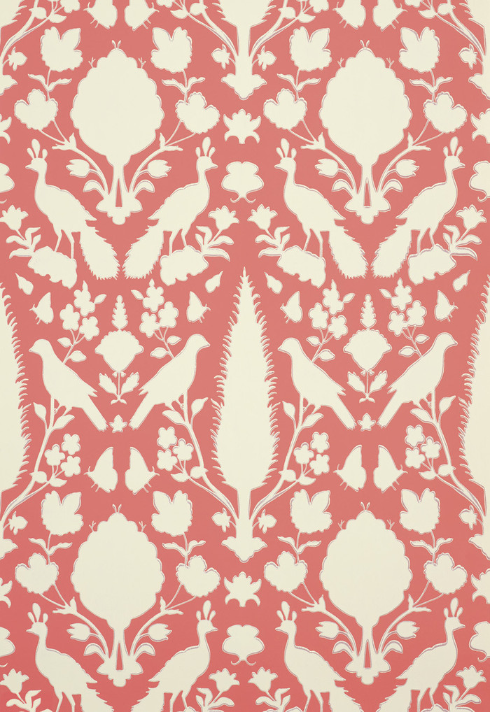 Schumacher Chenonceau Wallpaper Coral