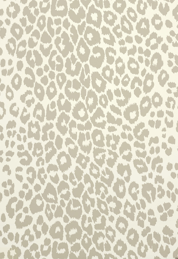 Iconic Leopard Wallcovering in Linen