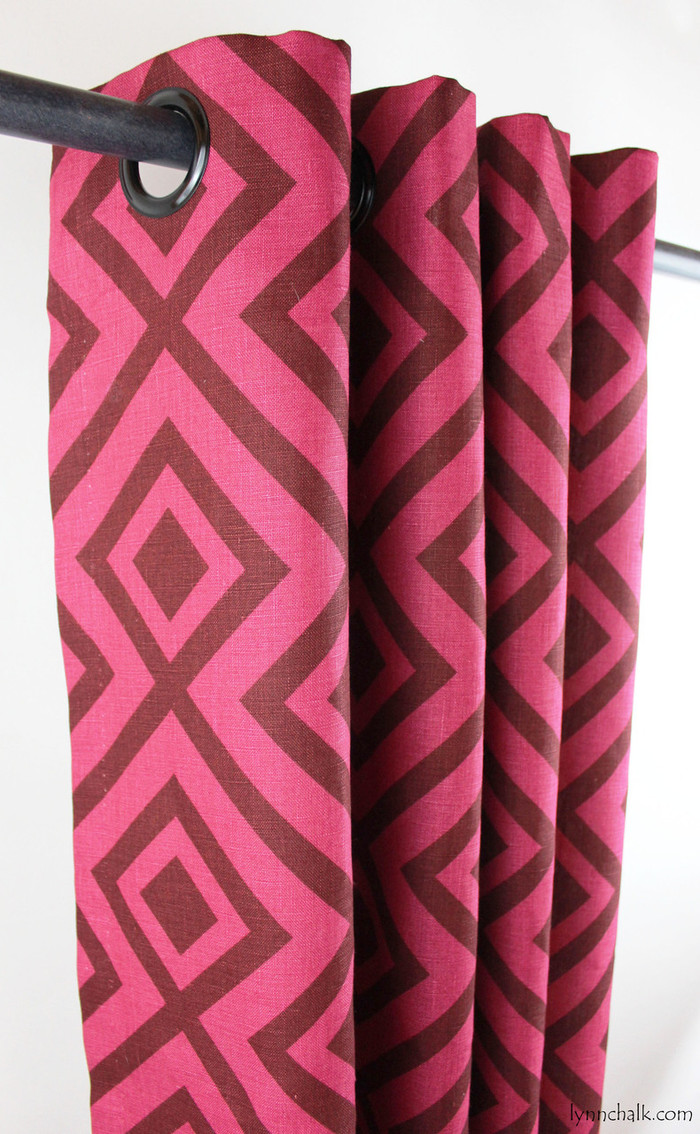 David Hicks Lee Jofa La Fiorentina Grommet Drapes (shown in Wine/Magenta-comes in other colors)