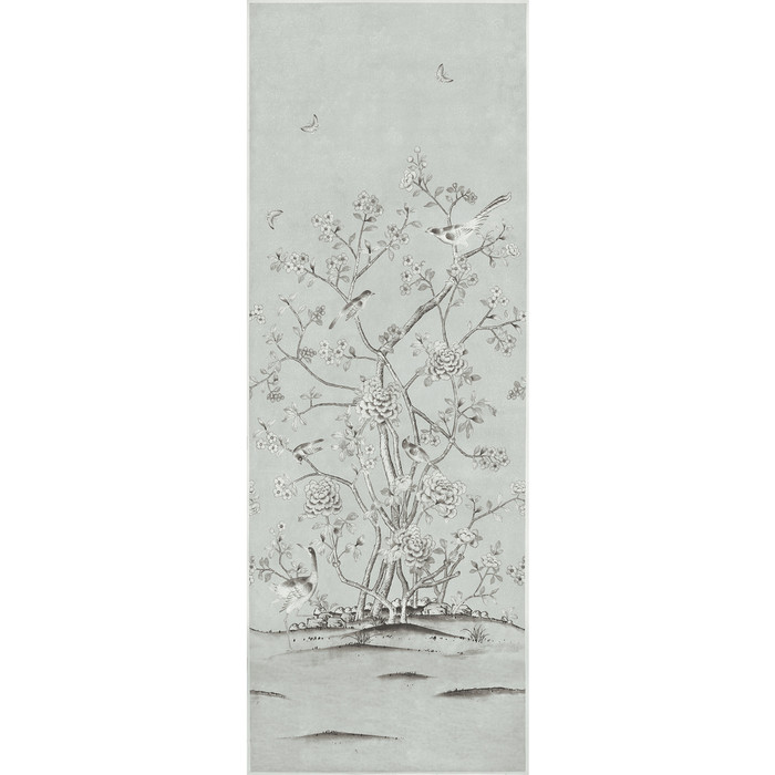 Schumacher Mary McDonald Chinois Palais Grisaille (Priced and Sold by the 3.75 Yard Full Panel)