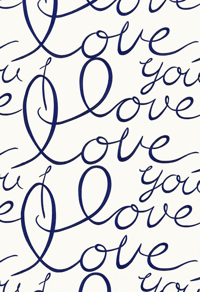 66201 Lulu DK Fabric Love Blueberry