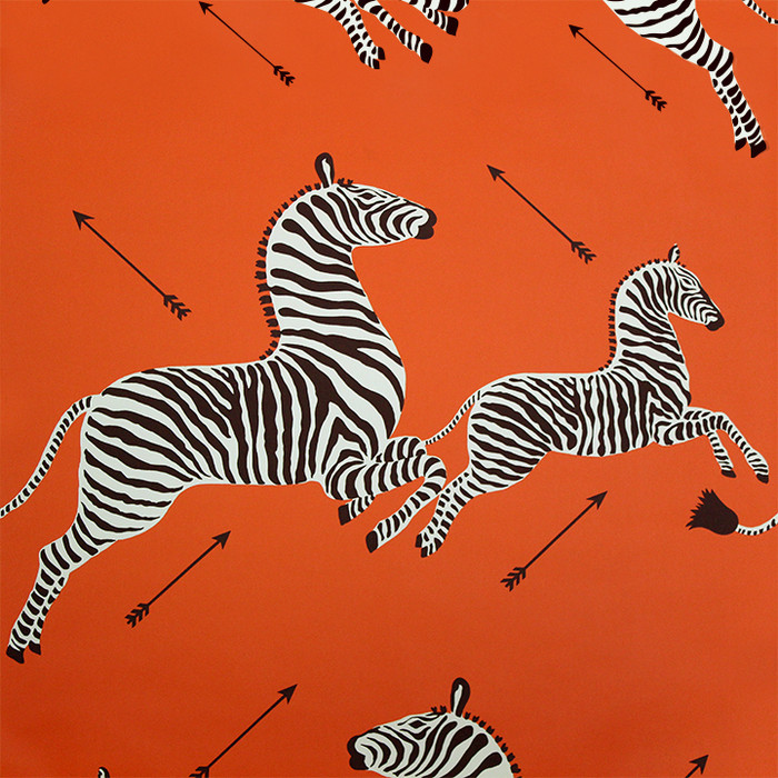 Scalamandre Zebras Wallpaper Orange