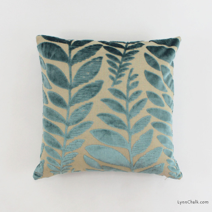 Pillow in Foglia Azure (18 X 18)