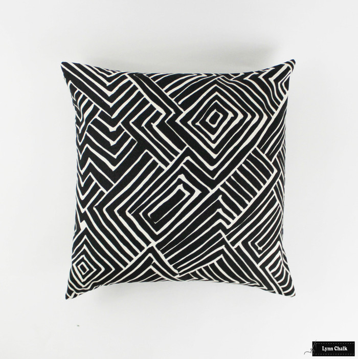 ON SALE Quadrille Alan Campbell Melinda Black on Tint Pillows (Both Sides-22 X 22) Only 4 remaining at this sale price