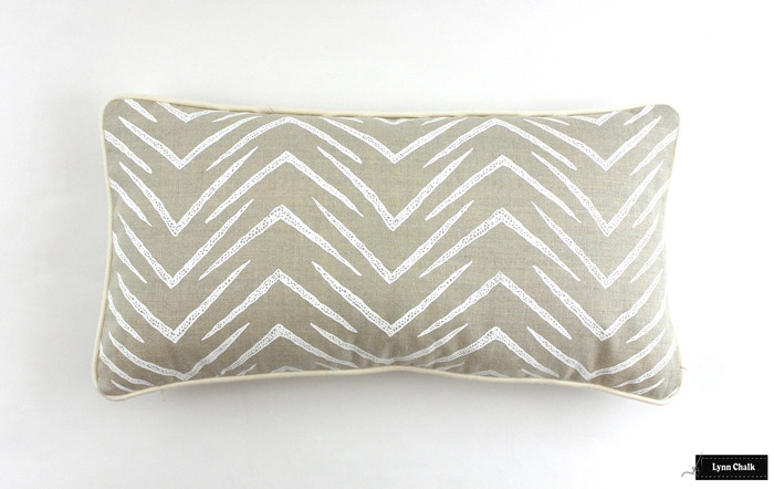 ON SALE Groundworks Herringbone Pillows in Jute/White (12 X 22) Only 2 Remaining At This Sale Price