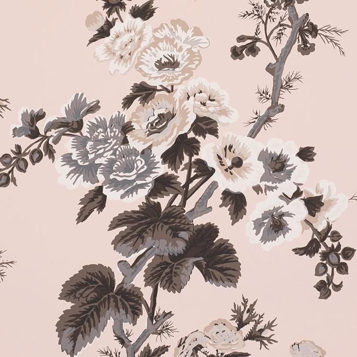 Pyne Hollyhock Wallpaper Blush