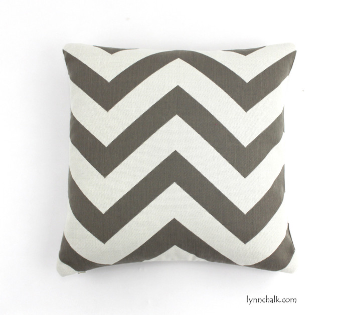 Pillow in Antibes Chevron Driftwood 18 X 18