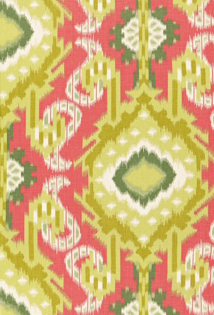 Schumacher Kiribati Ikat Print Coral
