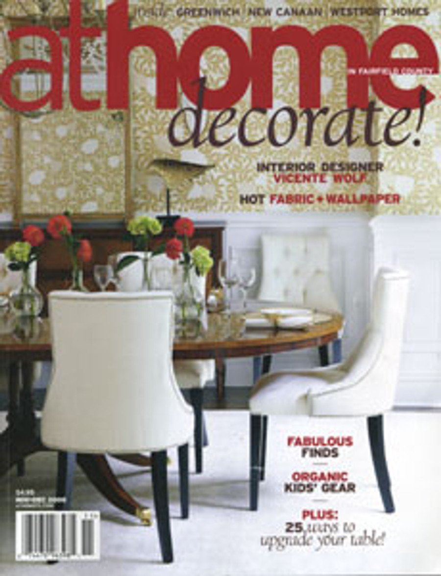 This magazine featured a home in which I made the window treatments.