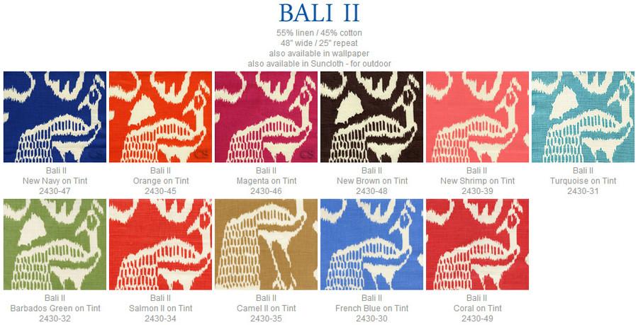 Quadrille China Seas Bali II Coral on Tint