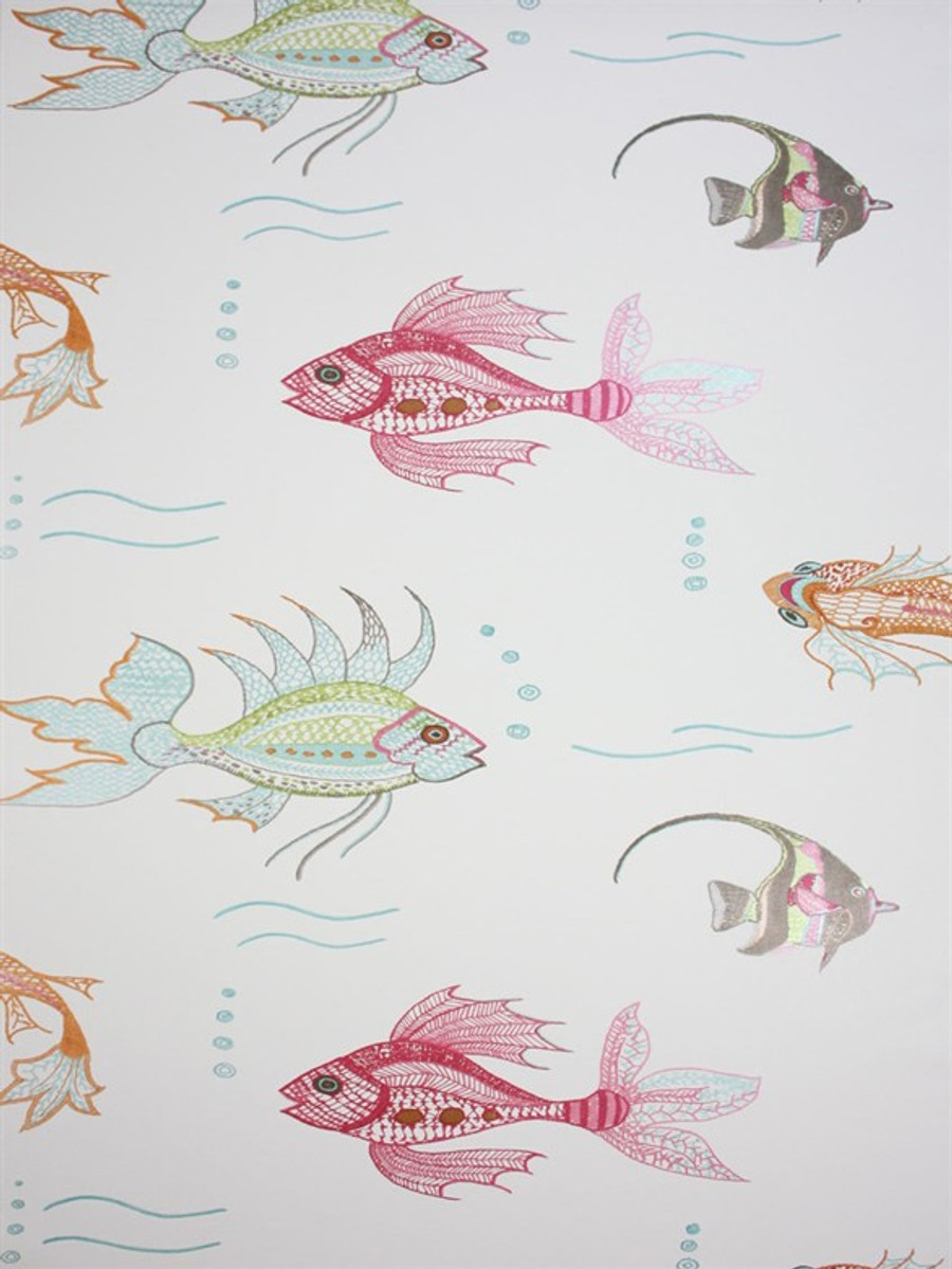 aquarium wallpaper 03 by osborne u0026 little by nina campbell perroquet