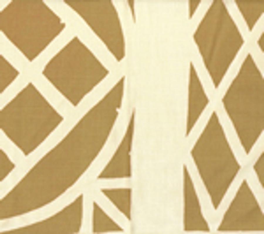 Quadrille China Seas Trellis Background Fabric Camel II on Tint