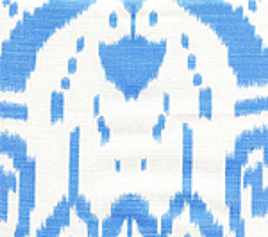 Quadrille Island Ikat Zibby Blue on White