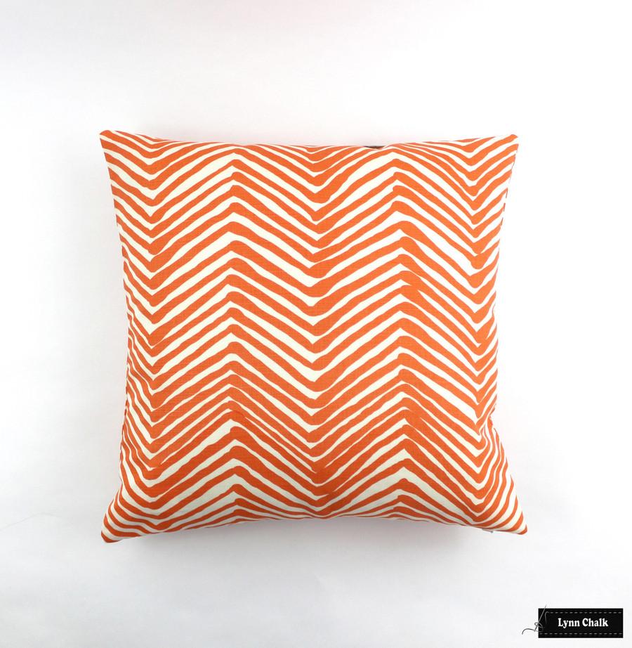 Pillow in Zag Zag in Orange on Tint (22 X 22)