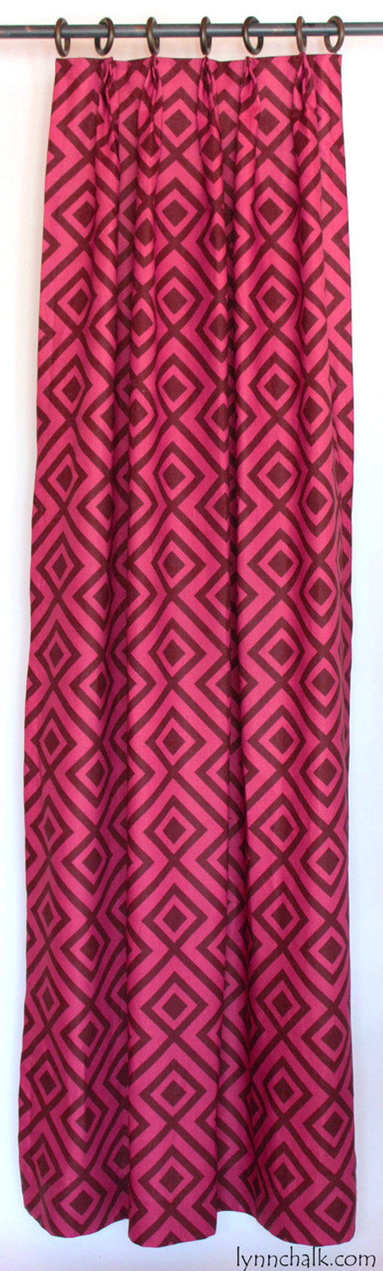 David Hicks Lee Jofa La Fiorentina Custom Drapes (shown in Wine/Magenta-comes in other colors)