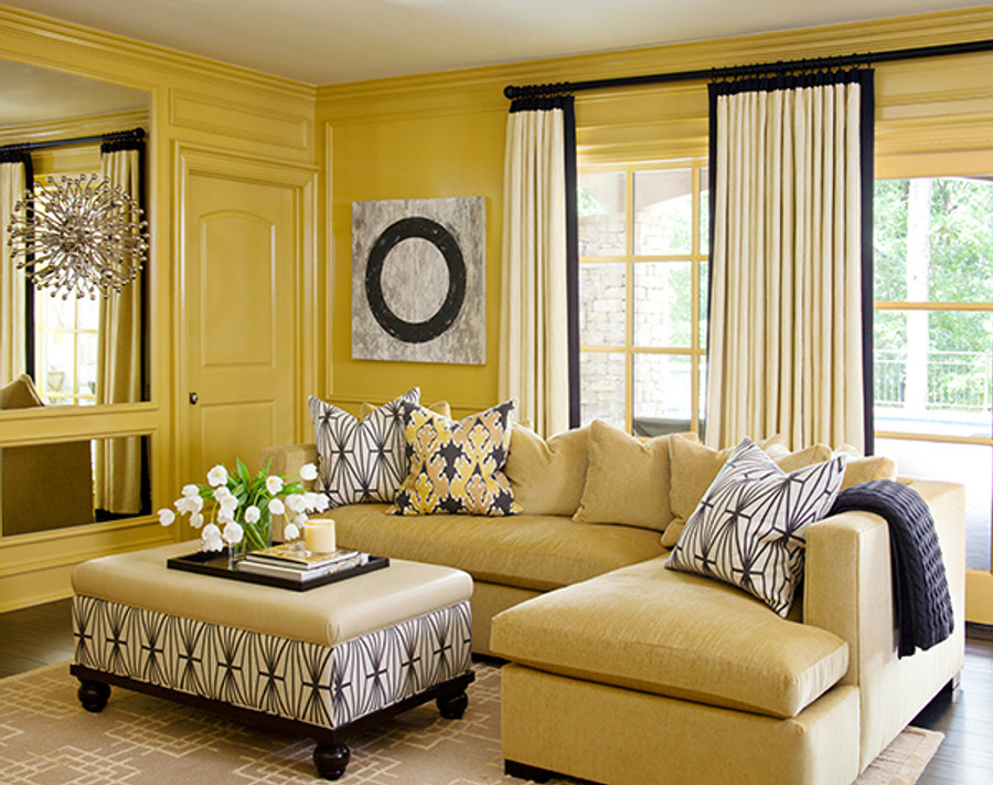 Drapes With Contrasting Border