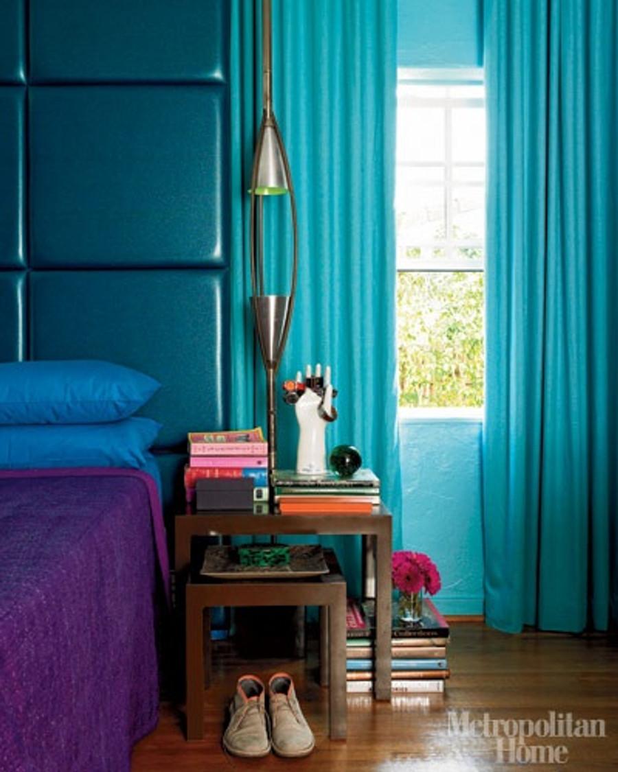 Turquoise Drapes (Metropolitan Home)