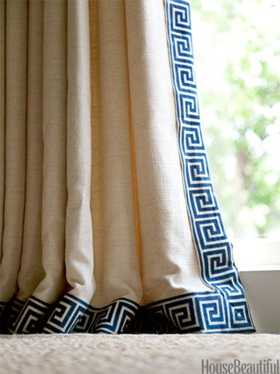 Drapes with Trim (House Beautiful)
