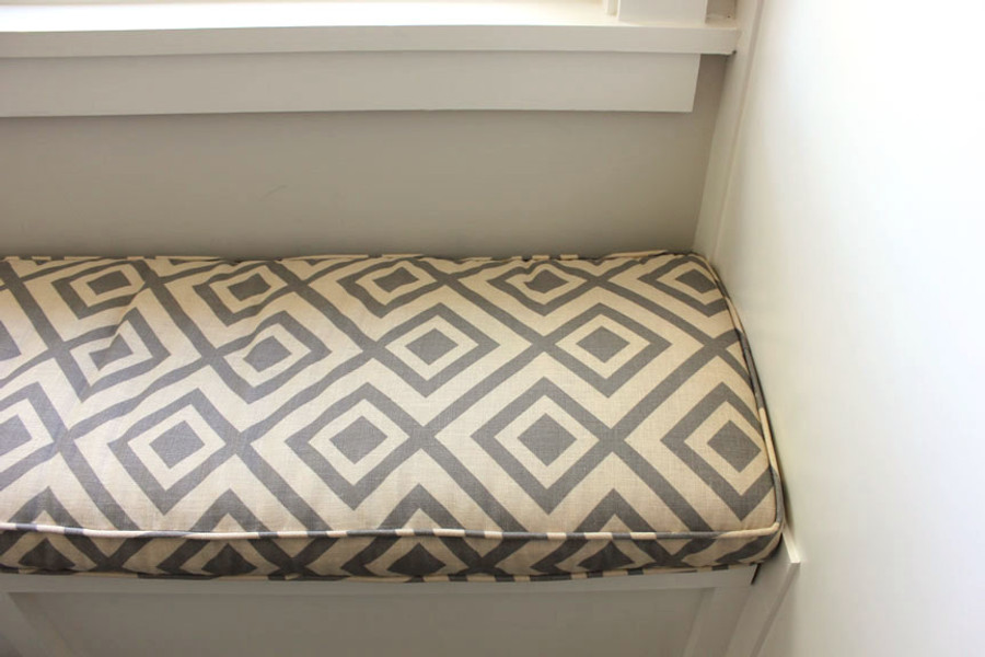 Cushion in La Fiorentina in Dark Grey with Beige