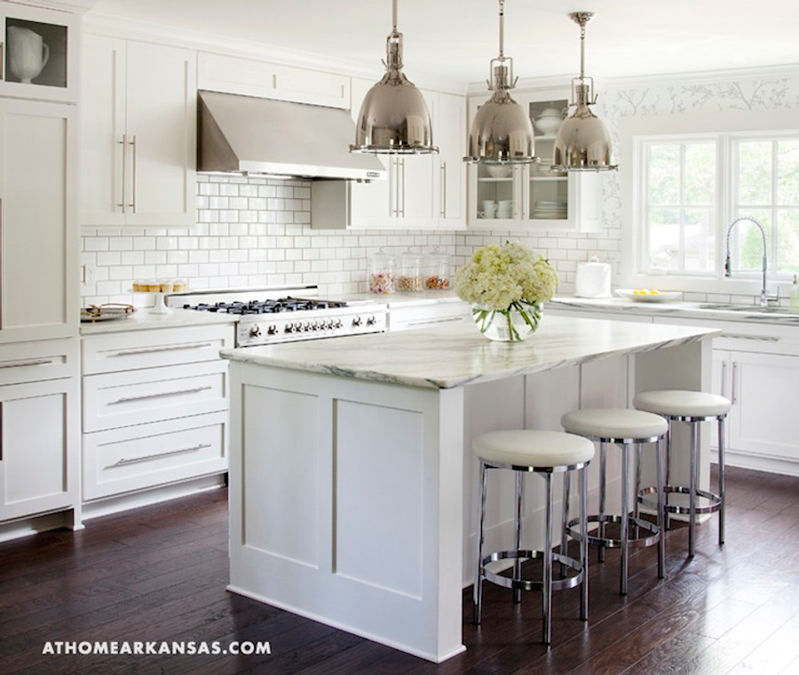 Kitchen Walls In Schumacher Twiggy Wallpaper In Silver Available In Other  Colors (At Home Arkansas)