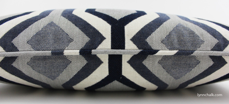 Dwell Studio Diamond Vista in Navy with Welting 12 X 22 Pillow (Both Sides)
