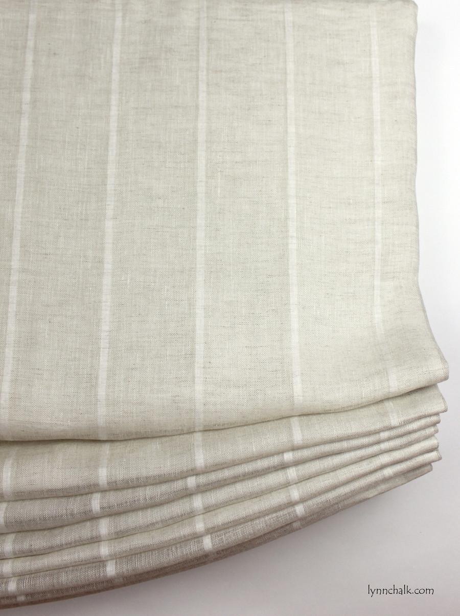 Casual Relaxed Roman Shade Kravet 3586-16 Sheer Linen Stripe