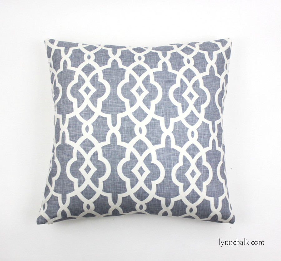 Custom Pillows in Summer Palace Fret in Wisteria (22 X 22)