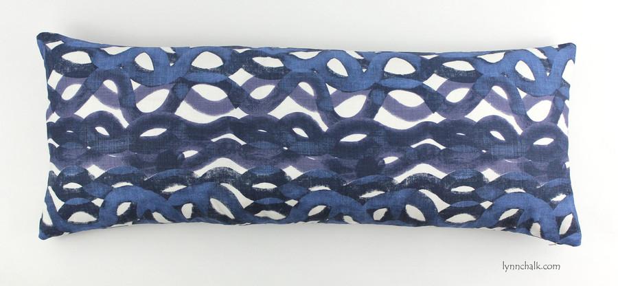 12 X 36 Pillow in Christopher Farr Fathom in Indigo