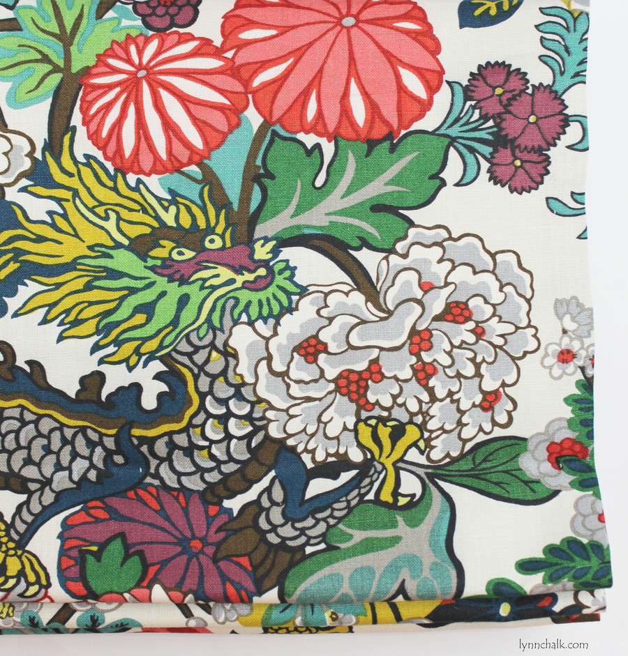 Custom Roman Shade by Lynn Chalk in Chiang Mai Dragon Alabaster