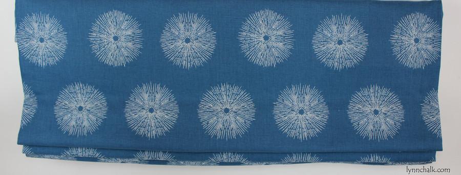 """Custom Roman Shade by in Kelly Wearstler Sea Urchin in Teal/Dove (38"""" Wide)"""