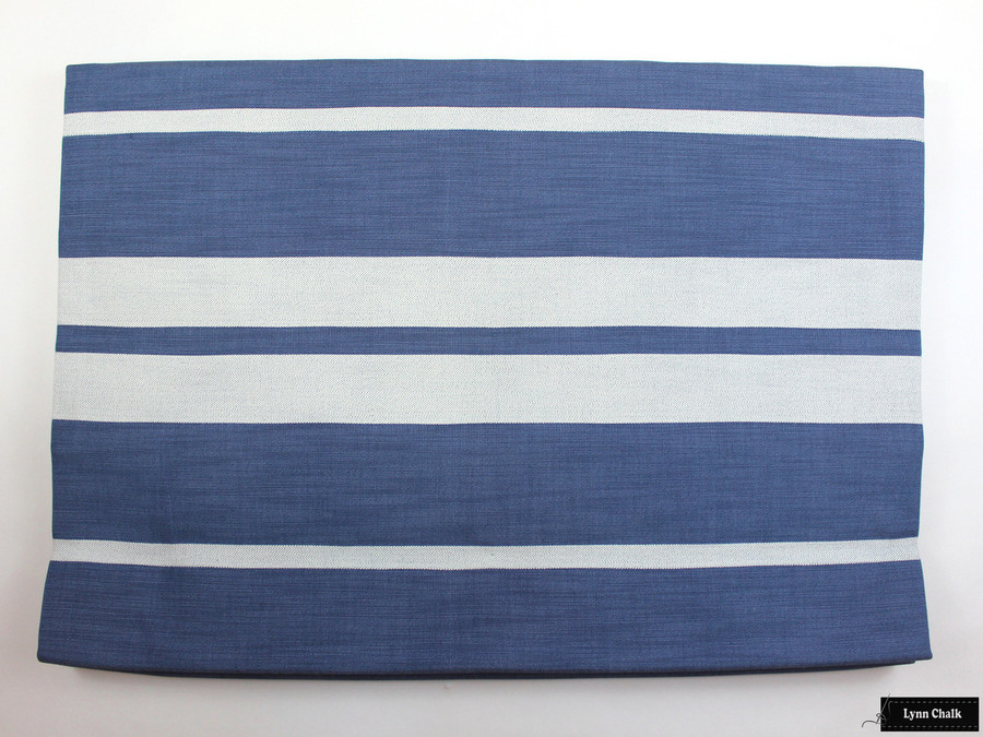 Little Big Stripe in Blueberry Roman Shade